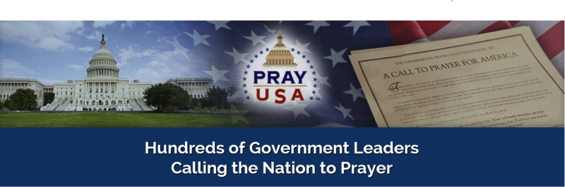 PrayUSA Press Release Banner