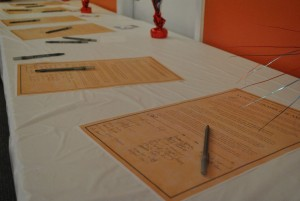 Procs on table